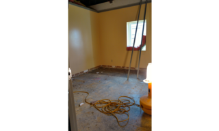 Phase Two has begun.  A family unit is already being prepared for new ceilings, flooring and paint!