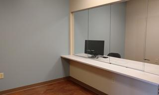 Take a look into the NEW resident monitor area.  The computers and workstations are being installed and it is nearly ready to go!