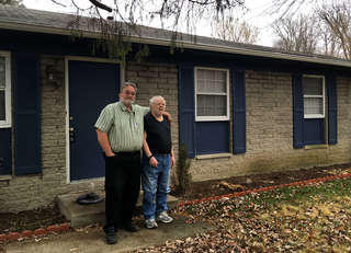 Homeless veteran clients buy a home