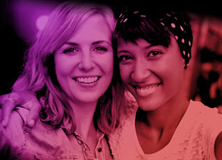Two female millennial friends