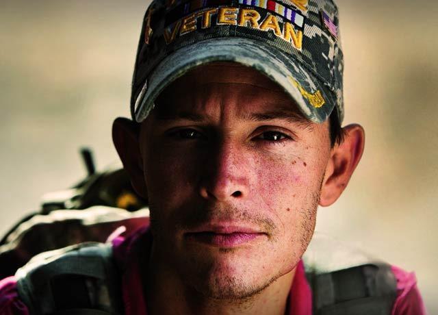 portrait of iraq veteran