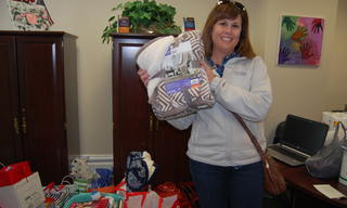 Mandy and her family generously donated blankets, laundry supplies and cleaning solutions.