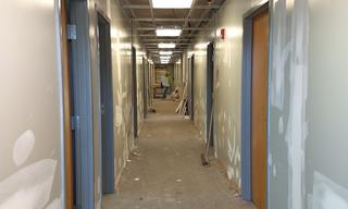 Starting Phase Four, transforming counseling and treatment areas and staff offices.