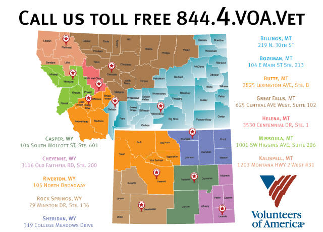 Map of veteran services
