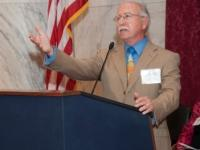 Mike King, CEO of Volunteers of America, speaking at Alzheimer's coalition kickoff