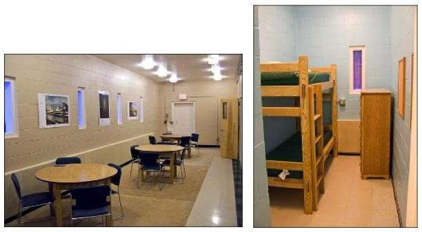 There Is A Common Room For Studying And Socializing Kitchen With Dining Area That Doubles As Classroom Each Bedroom Has Two Bunks Dresser
