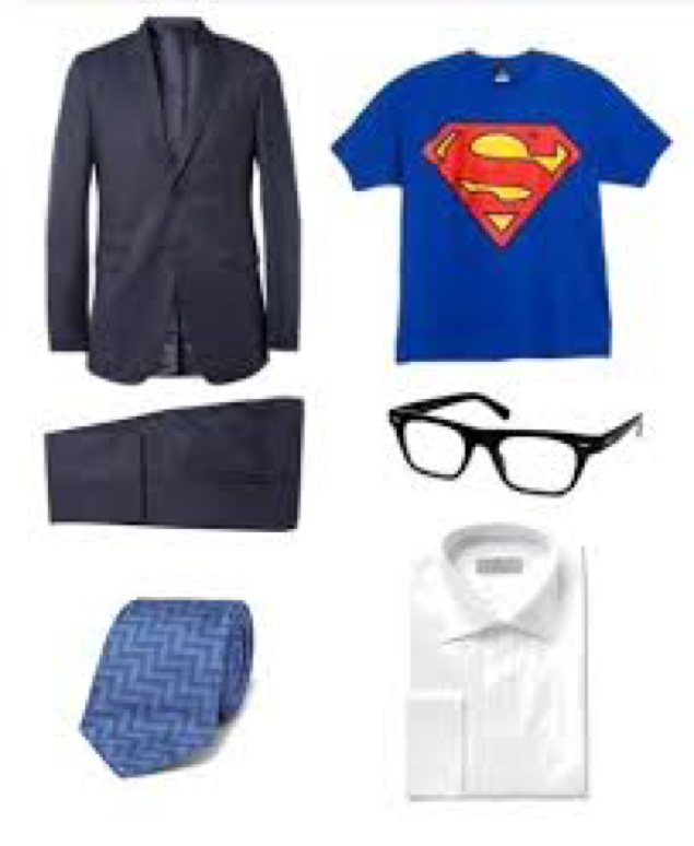 Thrift store halloween costumes volunteers of america supermans alter ego is a cinch to pull off wear your superman t shirt under regular office attire and dont forget the clark kent do solutioingenieria Gallery