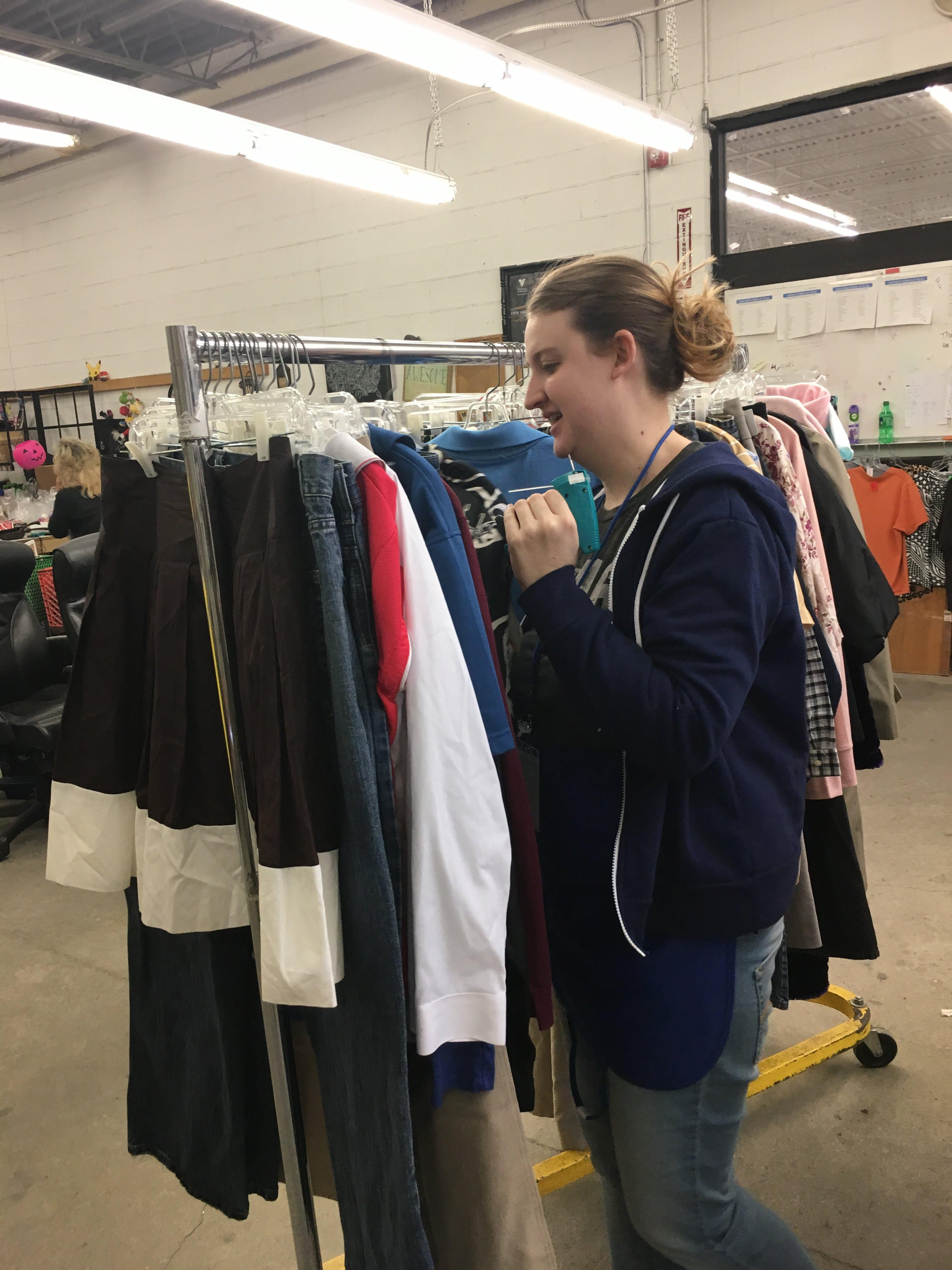 Giving each clothing item a tag