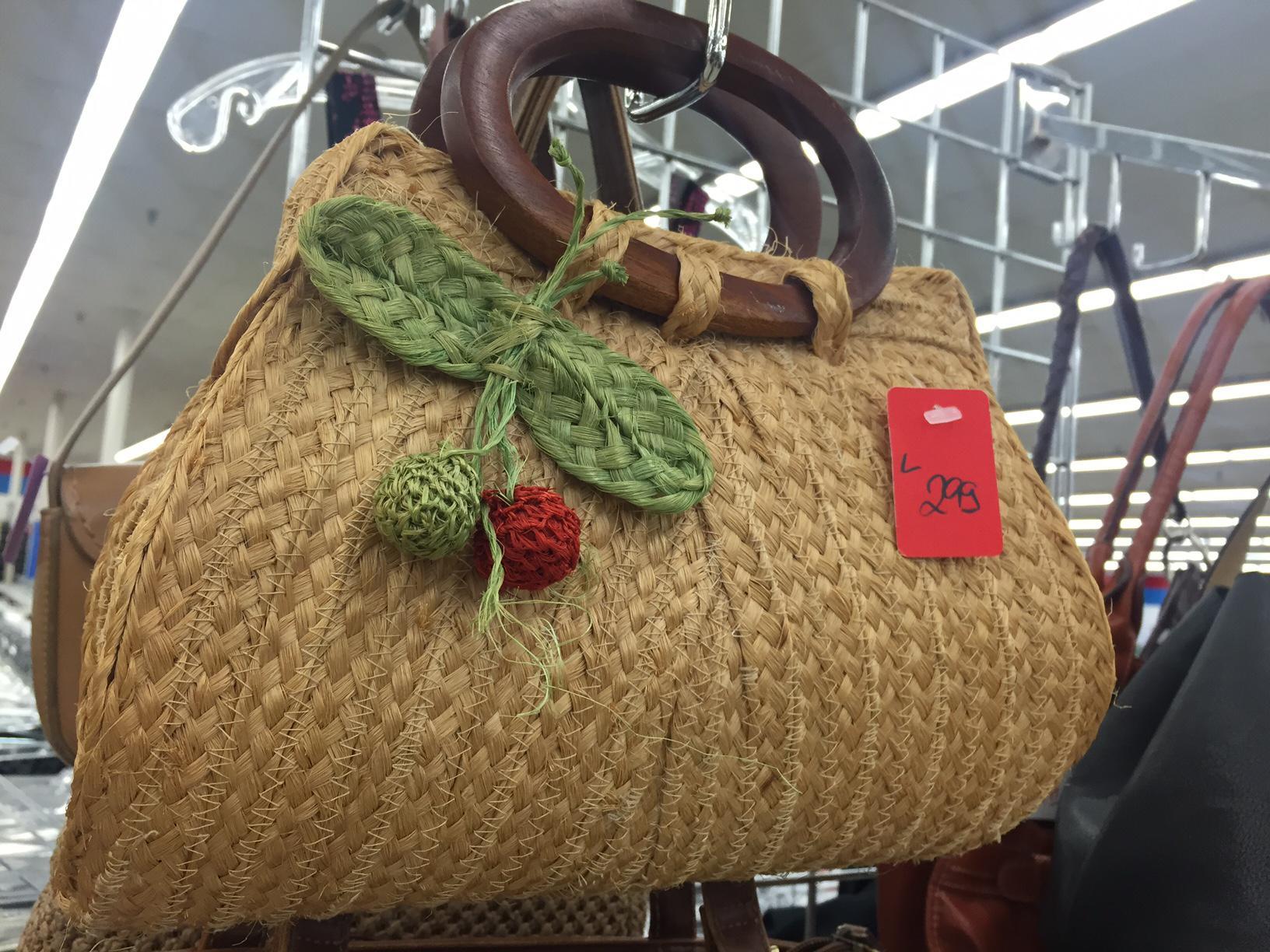statement handbag thrift store purse for spring