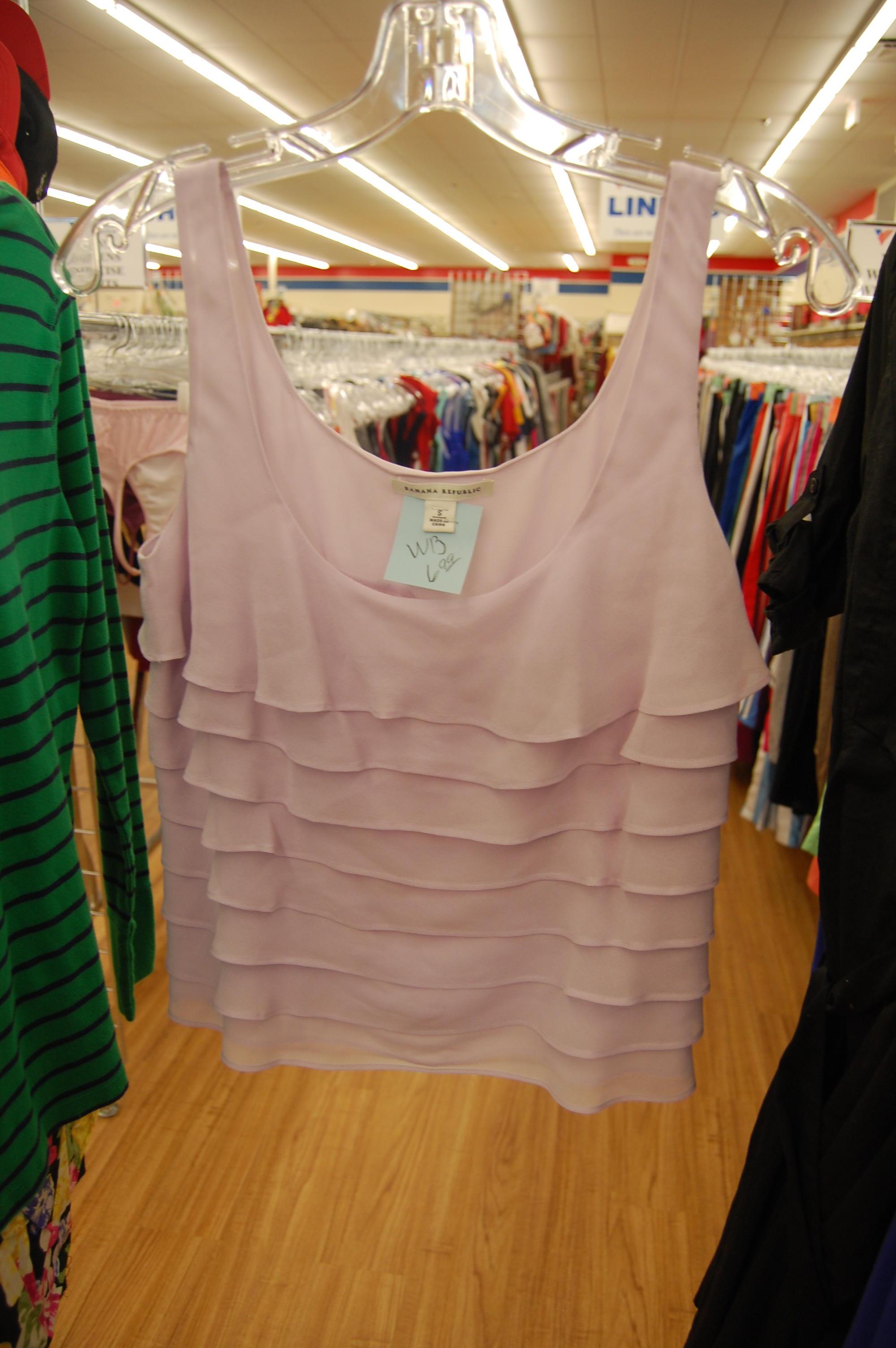pastel spring tank top thrift store