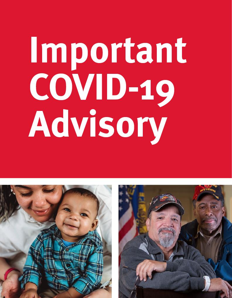Important COVID-19 Advisory