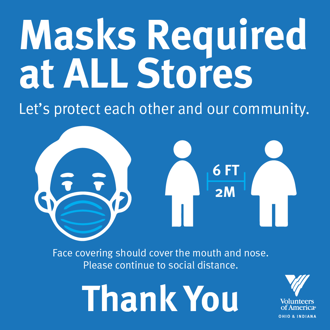 Masks Required at ALL Stores