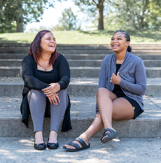 Army veteran Tanya and her Daughter
