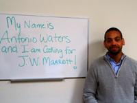 Antonio Waters - homeless veteran and resident of Brandon Hall